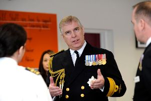 Prince Andrew, The Duke of York. opens the new education and resettlement centre for sailors at Portsmouth Naval Base in March 2013. Picture: Ian Hargreaves  (13807-2)