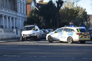 Accident in St Anne's Road. Photo by Dan Jessup. SUS-190212-135439001