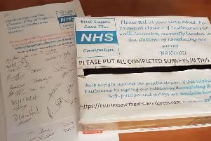 East Sussex Save the NHS says some of its petitions and collection boxes have been removed