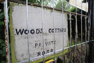 Derelict Woods Cottages in Swanley Close, Eastbourne (Photo by Jon Rigby) SUS-160713-140117008