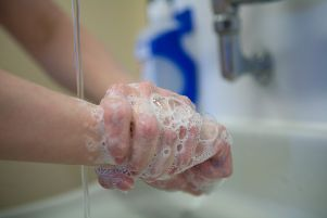 Hand washing is being promoted in hospitals to protect against the spread of norovirus. SUS-150116-120924001