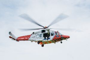 The Coastguard helicopter was called out last night