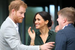 Prince Harry and Meghan during their visit to Sussex in 2018.