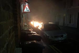 A deliberate fire in York Road, Eastbourne, last week