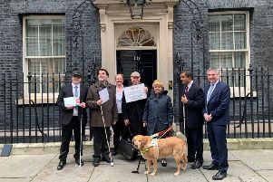 Eastbourne Access Group visits 10 Downing Street