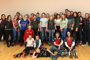 Members after the roller disco club meeting