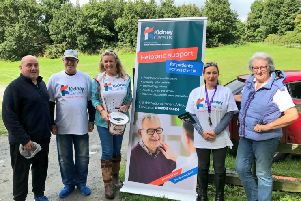 Attending the Renal Horse Ride and Dog Walk at Castle Ward Estate were from left to right: William Johnston ' NI Kidney Patients Association, Stephen Nicholl, Jo-Anne Dobson ' NI Ambassador for Kidney Care UK, Christine Nicholl and Anita Lambe Vice Chair of the British Horse Society NI Region.