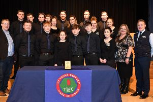 Kilrea YFC choir who were placed first for the second year in a row