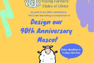 The Young Farmers' Clubs of Ulster has launched a mascot design competition in celebration of it's 90th anniversary this year