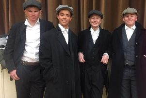 Members from Kilraughts YFC dressed as the Peaky Blinders at the YFCU arts festival in 2019