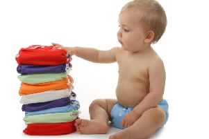 Cloth nappies are back in vogue.