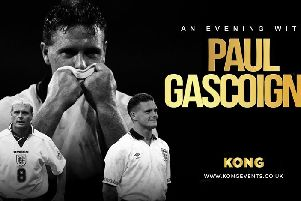 'Gazza' will talk about his career and life on and off the pitch.