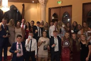Members with awards won at the annual county dinner