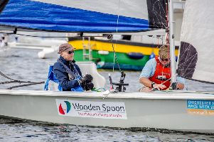 Declan Rock and Chris Hodge on board one of Sussex Sailability's boats