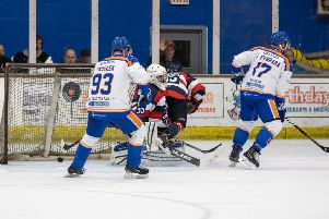 James Ferrara scores Phantoms third goal versus Invicta. Picture: Tom Scott