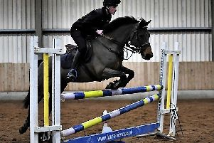 Benjamin Gilmour and Katie do the double in the 90cm and metre classes. Pictures: Equi-Tog