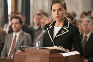 Felicity Jones as Ruth Bader Ginsburg PHOTO: PA Photo/Storyteller Distribution Co., LLC/Focus Features/Jonathan Wenk