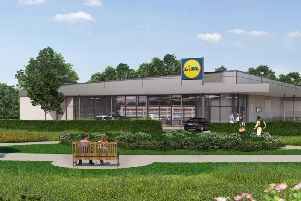 An artist's impression of the new Lidl