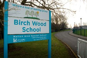 The sign outside Birch Wood Area Special School at Melton EMN-190321-150843001