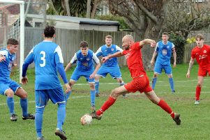 Bosham in recent action against Jarvis Brook / Picture by Kate Shemilt