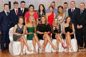 Members of Cappagh YFC who attended the county efficiency awards in Cookstown at the Royal Hotel