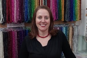 Kathleen McGowan of Abacus Beads which has reopened after seven months