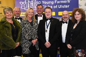 YFCU president James Speers with sponsors NFU Mutual