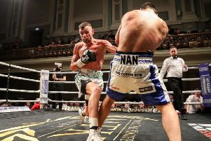 Sean McComb in action at the Ulster Hall