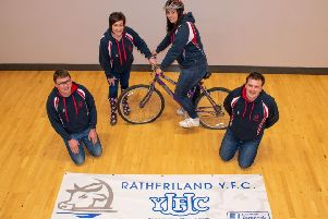Stephen Gordon (club leader), Roberta Simmons (club president), Alison Gracey and Matthew Murphy (club secretary) pictured as they prepare for their sponsored cycle