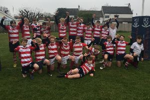The combined Melton RFC and Stoneygate RFC under 13s squad EMN-191004-110824002