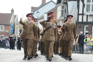 Troops from Thorney Island at Emsworth's St George's Day parade / Picture by Sarah Standing