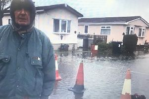 Tom Starbuck says residents have been trying to get something done about the flooding around their home on the Beacon Park Home and Holiday Village in Skegness for years.