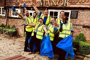 Team members from Goffs Manor in Crawley
