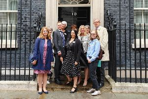 The Katharine House Hospice team outside Number 10