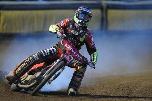 Action from Panthers v Belle Vue. Photo: David Lowndes