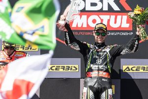 Jonathan Rea won two races at Portimao in Portugal and finished as the runner-up in race three to increase his lead in the World Superbike Championship to 91 points.