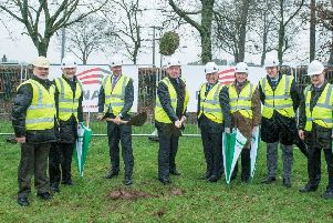 Pictured at the turning of the sod on a new �8.8 million National Food Innovation Hub in Teagasc Food Research Centre, Moorepark, Fermoy, Co. Cork earlier today are Gary Falconer, Architect, Dr Mark Fenelon, Head of Food Programme Teagasc, Liam Herlihy, Teagasc Chairman, Michael Creed TD, Minister for Agriculture, Food and the Marine, Professor Gerry Boyle, Director Teagasc, Professor Ger Fitzgerald, Teagasc Authority, Liam Woulfe, Teagasc Authority & Dr Frank O'Mara, Director of Research Teagasc. Photo O'Gorman Photography.