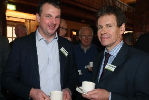 Mark Blelock from Antrim and Don Morrow, CAFRE pictured chatting before the recent UGS Conference at the Dunadry Hotel
