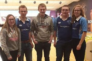 Members of Castlecaulfield YFC who took part in the YFCU bowling competition heats