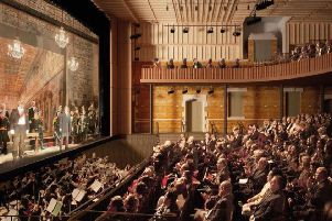 An artist's impression of inside the finished opera house