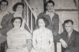 The Harborough Drama Societys cast for their play The Shining Hourl in November 1951.