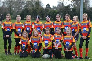 Borough Under 13 girls are pictured in their new BGL sponsored kit.
