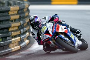 Davey Todd on the Penz13 BMW at the Macau Grand Prix.