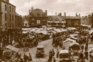 Boom days for Banbury Market with the Palace cinema a possible site for a covered market in the background
