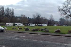 The encampment in Northampton Road