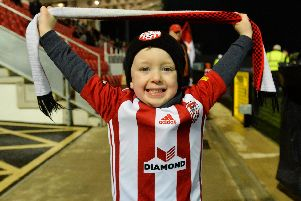 Derry City supporter Darragh Shields, age four, before the SSE Airtricity League Premier Division match between Derry City and UCD at the Ryan McBride Brandywell Stadium in Derry. Photo by Oliver McVeigh/Sportsfile