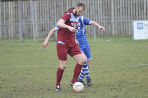 Action from Little Common's home game against Saltdean United earlier this month. Picture by Simon Newstead