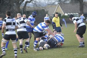 Action from Hastings & Bexhill's last outing, at home to Pulborough, two weeks ago. Picture by Simon Newstead