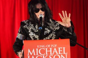 Michael Jackson when announcing plans for a summer residency at the O2 Arena in 2009. (Photo by Tim Whitby/Getty Images)