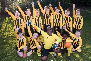 Milton Keynes Wanderers Eagles under-11s football team - all the squad are pupils at the George Grenville Academy, Buckingham